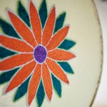 Close-up of Márcia's embroider