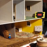 Dollhouse squat—salvaged in an alley and then installed by Right2Survive. Field Work, Portland, Oregon, Dec. 2010